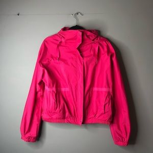 Lululemon pink hooded rain jacket size 10